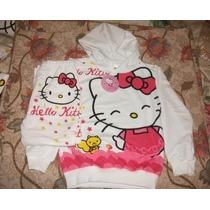 Stock Buzo De Hello Kitty Felpa+pantalon Franela Capucho 1/2