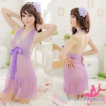 Babydoll Sexy Camisón Lencería (purpura)