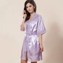 Stock Lindas Pijamas X 2 Piezas Bata+ Kimono Talla S