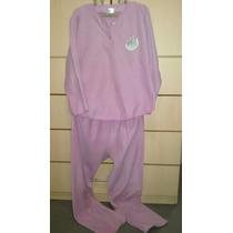 Pijama Mujer Polar Rosa Talla M Usado Ropa De Dormir