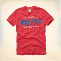 Polos Hollister River Jetties Rojo - Turquesa Talla M