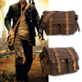 Messenger Bag Cuero Y Lona, Morral Casual Soy Legenda,...