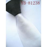 Elegante Corbata Delgada Blanco Con Negro, Modelo M-0061