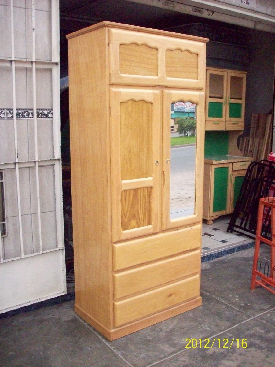 Ropero 2 puertas y cajones capirona s 315 00 en for Roperos de madera para dormitorios