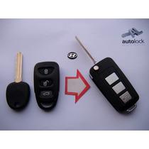 Carcasa Control Remoto Con Flip Para Hyundai Sonata Tucson