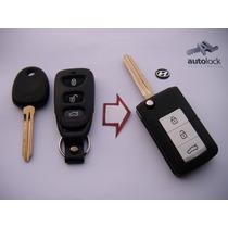 Carcasa Control Remoto Con Flip Para Hyundai Accent Elantra