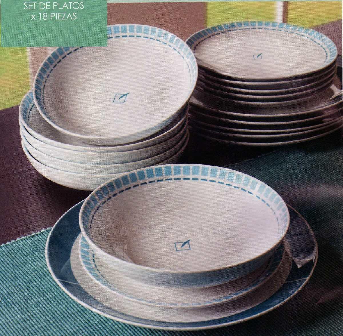 Set de vajilla 18 platos de unique nuevo s s for Set de platos