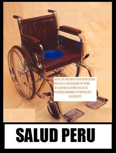Silla De Baño Con Inodoro:Silla De Ruedas Con Inodoro Sanitario Baño Incorporado – S/ 429,00