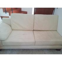 Muebles De Sala (cuero Ecológico Y Cedro)