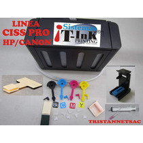 Kit Sistema Continuo Ciss Pro Hp/canon Basico Adaptacion