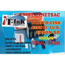 Nuevo Sistema Ciss Lux Epson Xp201/xp401 X Mayor