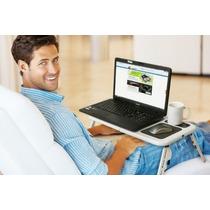 Mesa Con Cooler Para Laptop Posa Vaso Y Mouse E-table