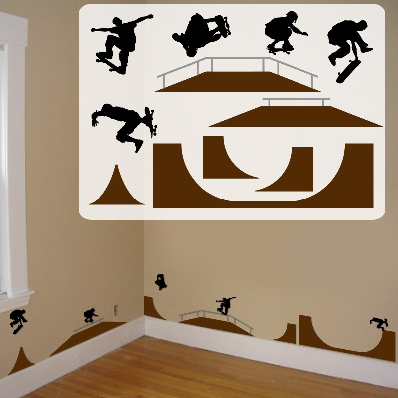 Stickers skaters para pegar en tu cuarto s 150 00 en for Donde venden stickers para pared