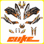 Adhesivos Duke 200/390 Ktm Tuning Rockstar, Fox, Stickers