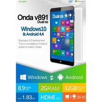 Tablet Onda V891 Windows10 Android4.4 Nuevosellado Con Stock