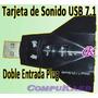Tarjeta De Sonido Usb De Sistema Dual 7.1, Ideal Para Dj