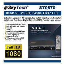 Sintonizador (tdt) Tv Hd Full Segment Skytech St0870