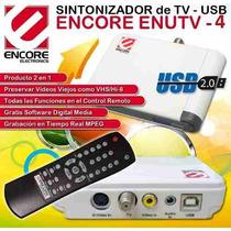 Tv Sintonizador Tuner Usb Digitalizador Video Control Remoto