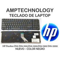 Teclado Hp Pavilion Dv6-1000 Dv6-2000 Dv6 Negro Nuevo