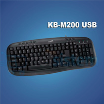 Teclado Multimedia Genius Kb-m200 Usb En Español Itelsistem