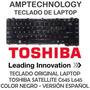 Teclado Laptop Toshiba Satellite C600 C640 C645 L645 Glossy