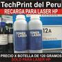 Recarga Toner Hp Calidad Garantia Botella 120 Gr Toner Laser