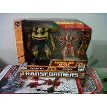 Transformers Tfs Bumblebee Vs Grindor Sellado Optimus