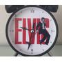 Reloj Despertador Estilo Vintage Elvis Presley Solo Cromado