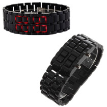 Reloj Digital Led Negro Estilo Samurai Unixes.pulsera