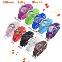 Reloj Silicona/ Pulsera Colores Importados
