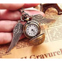 Harry Potter Collar Reloj Snitch Dorada