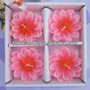 Set 4 Velas - Flores - Decorativas-tienda Jesús Maria