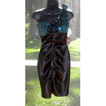 Vestido Corto Tela Importado Matrimonio Negro 5 Xs S Stock