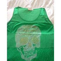 Lindo Polivestido Color Verde Con Diseño Marca Española