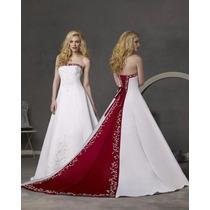 Vestido De Novia Ivory Y Conchevino Importado Usa