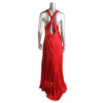 Vestído Largo Fiesta Matrimonio Americano Rojo L Nuevo