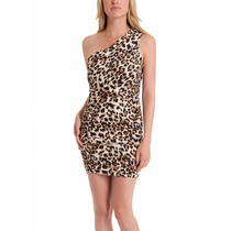 Vestido Sexy Fiesta Animal Print Leopardo Guess S L Stock