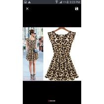 Vestido Delgado Sexy Leopardo Americano Europeo Alta Moda