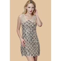 Vestido Elegante Lentejuelas Talla M Importado Stock Elle851