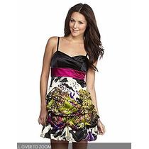 Vestido Tiritas Tela Satinada Fucsia Importado 9 M/l Stock