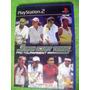 Eam Ps2 Smash Court Tennisl 2001 Para Playstation 2 Sony Atp