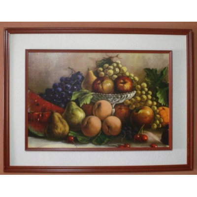 Cuadro grande sala comedor frutas machupicchu lineas de for Cuadros en country para comedor