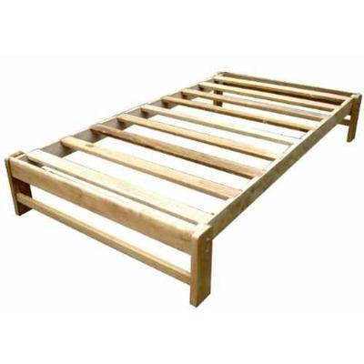 Tarima 2 plazas desarmable en madera capirona for Precios de futones de 2 plazas