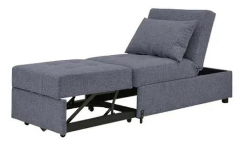 Sofa Cama Reclinable Color Gris De Tela Envío A Provincia ...
