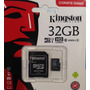 Memoria Kinstong32gb Hd Video Clase 10 80mb | GENERATION CELLULAR
