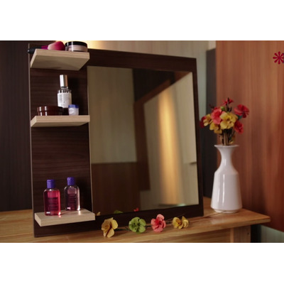 Espejo Repisa Ba O Habitacion Melamina Oferta Cr 10