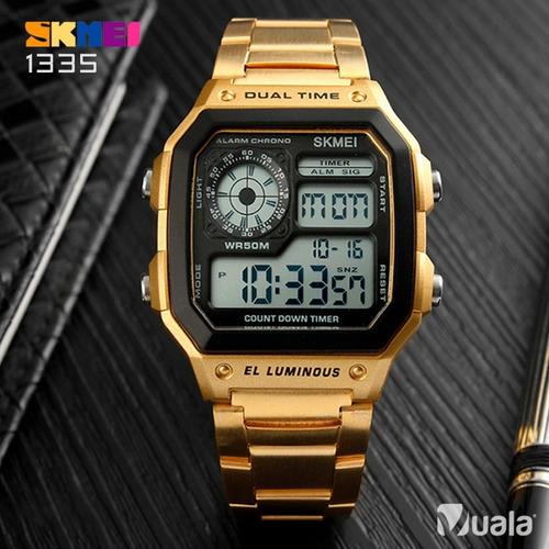 831c635fee8c ... comprar Reloj Skmei 1335 Dorado Vintage Clasico Hombre Cronometro ...