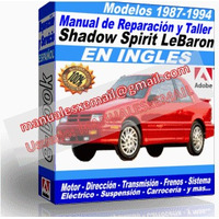 Manual de Reparacion Taller Shadow Spirit Lebaron New Yorker 1993