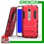 Case Protector Armor Color Rojo Para Moto G3 3era Generación   ONLINEHAPPY