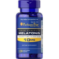 Melatonina 10 Mg 120 Caps Puritans Pride (Made in USA)